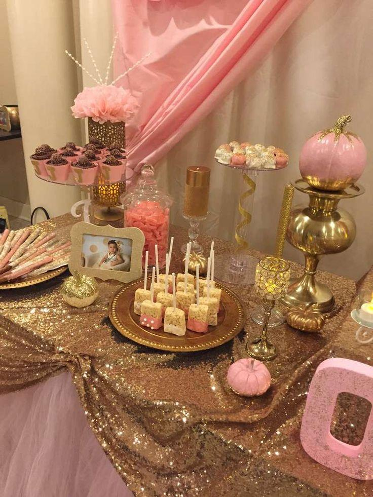Wedding Theme Pink Gold Birthday Party Ideas 2409282 Weddbook