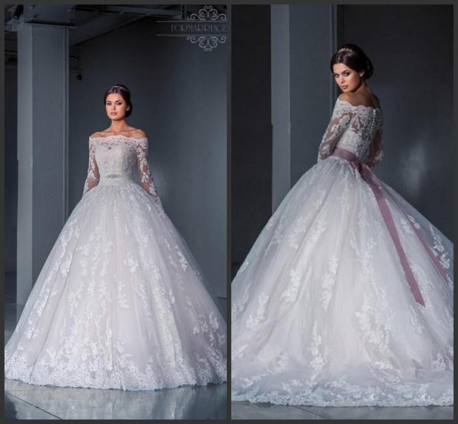 Best selling lace bateau neck winter wedding dresses 2016 for Lace winter wedding dresses
