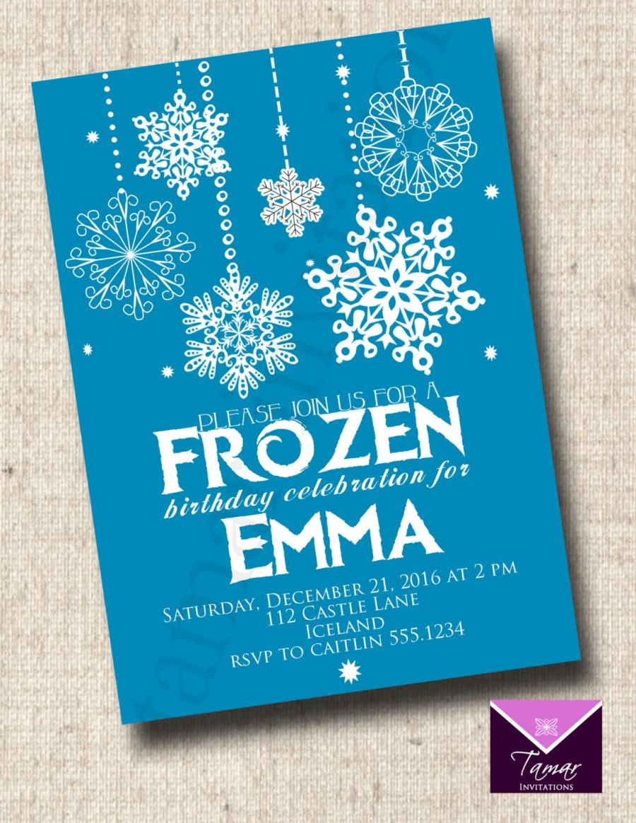 graphic about Frozen Birthday Card Printable named Invitation - PRINTABLE FROZEN BIRTHDAY Invitation #2409442