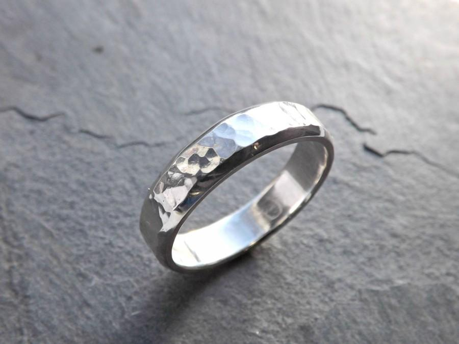 Silver engagement ring for men