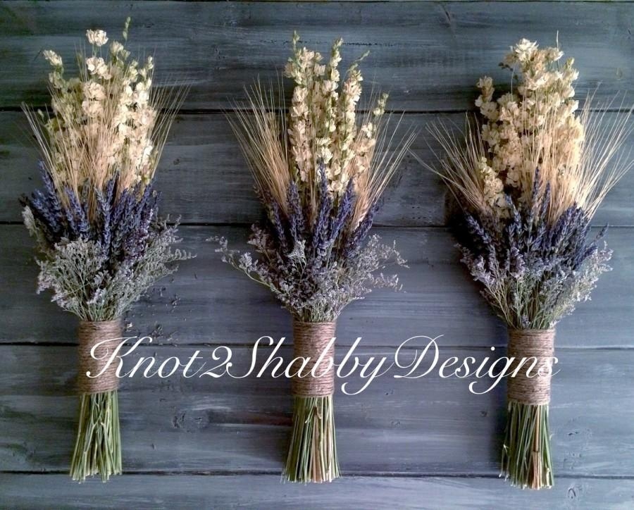 Dried Flowers Dried Glower Bouquet Wheat And Lavender