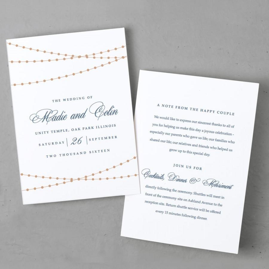 Invitation - Printable Wedding Program Template #2409642 - Weddbook