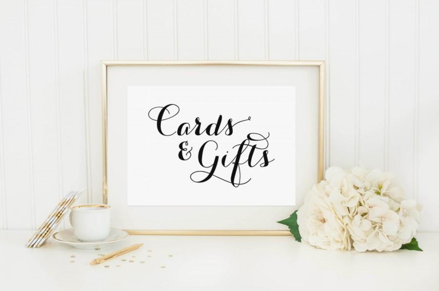 Wedding Gift Box Sign : Cards and Gifts Sign - Wedding Reception Signage, Wedding Signs ...