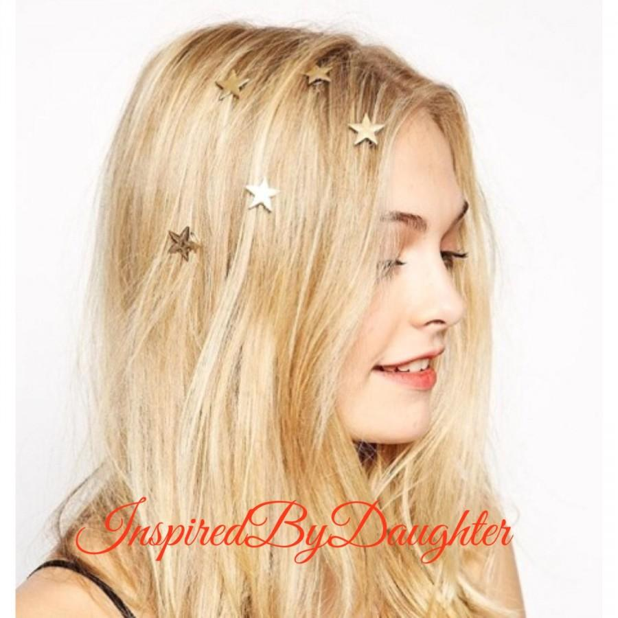 Yellow hair accessories for wedding - Bridal Hair Accessories Set 2 3 4 5 6 7 8 9 10 Star Hair Pin Bridal Hair Spiral Hair Clip Barrette Stars Pin Hair Accessories
