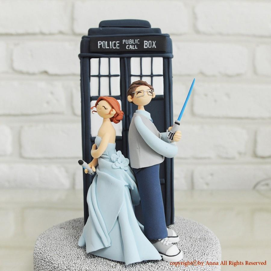 Custom Cake Topper Doctor Who Star Wars Combined Theme