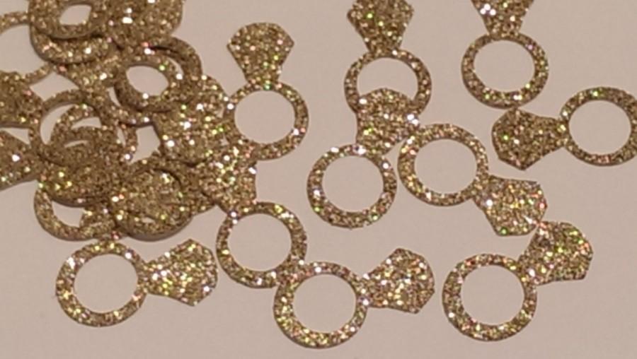 rings gold confetti round confetti bridal shower decor gold decor wedding decor gold ring wedding decor