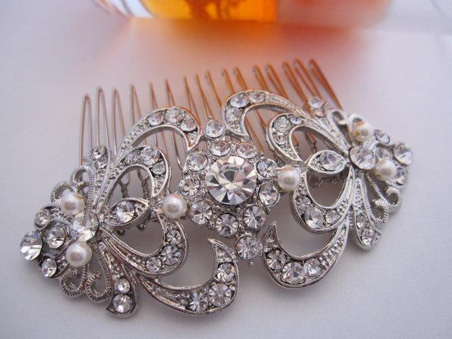 Hochzeit - Bridal hair comb Wedding hair accessories Bridal hair jewelry Wedding headpiece Bridal accessories 1920's wedding jewelry bridal haircomb