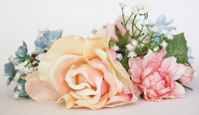 Mariage - Hair wreath, Bridal wreath, Rose crown, Pink flower crown headband, Wedding headpiece, Bridal flower headpiece