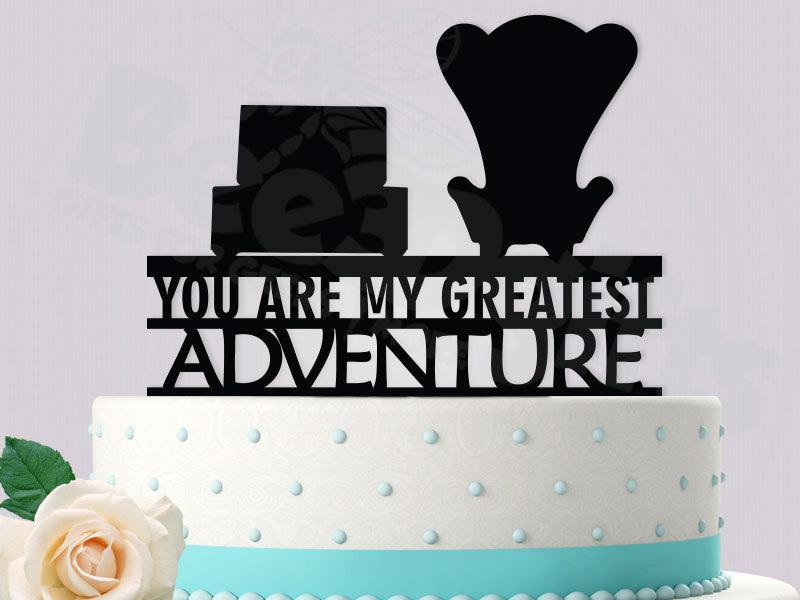 Mariage - Disney UP Inspired Cake Topper (You Are My Greatest Adventure)