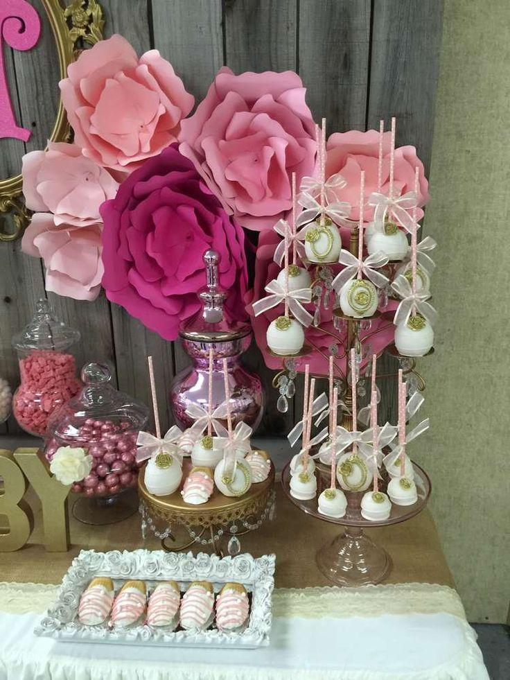 it s a girl baby shower party ideas amazing pink and gold baby shower