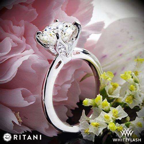 Wedding - Platinum Ritani 1RZ3279 Solitaire Engagement Ring