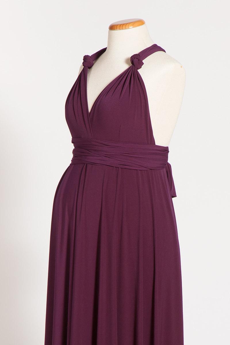 3f8212c25b5f0 Maternity Infinity Purple Dress, Maternity Dress, Long Aubergine Maternity  Gown, Maternity Eggplant dress, Premom Dress, Maternity Clothing