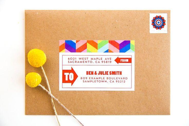 Mariage - Colorful Geometric Rainbow Baby Shower