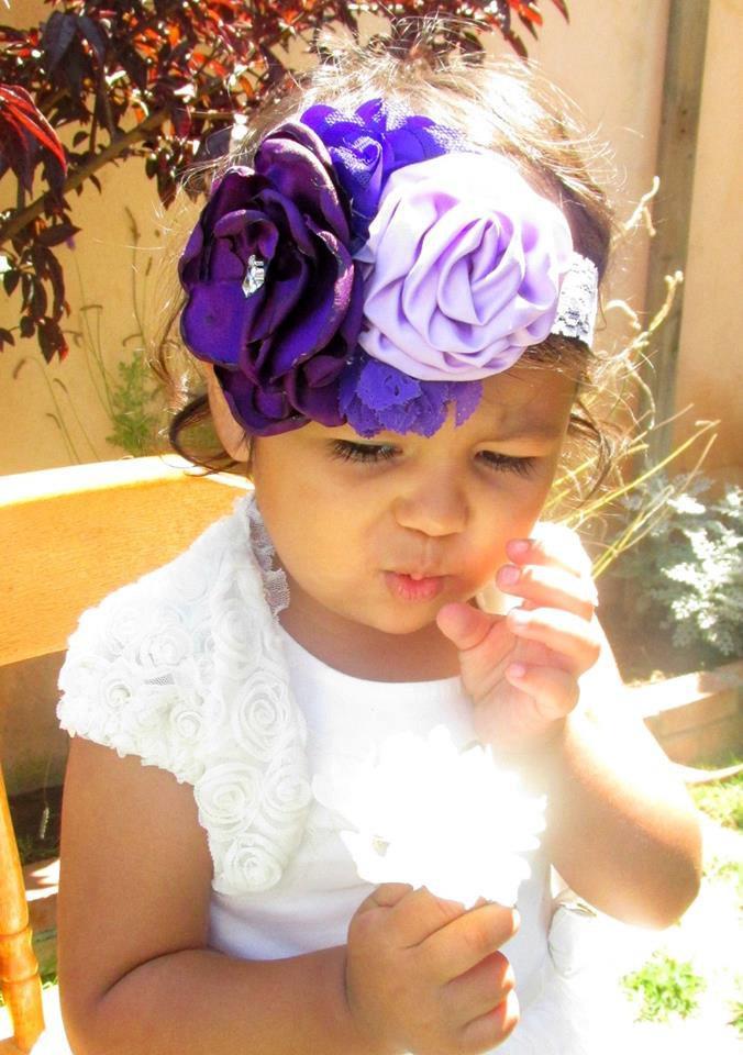Purple And Lavender Baby Headband b8add4affc0