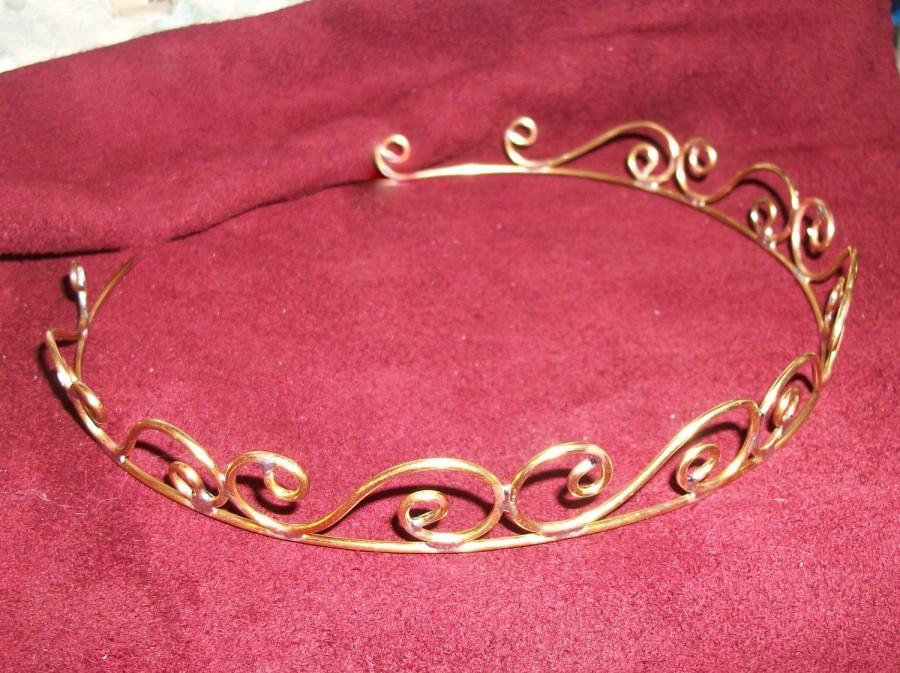 Wedding - Handmade Brass Simple Swirls Tiara Crowns