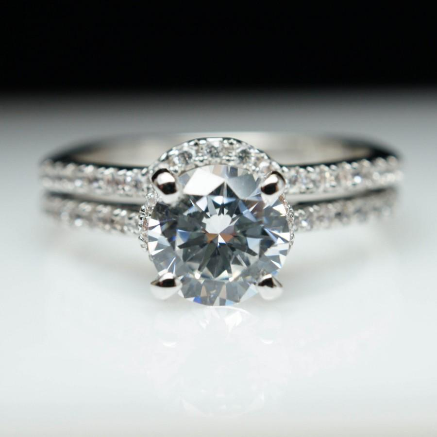 solitaire engagement ring matching wedding
