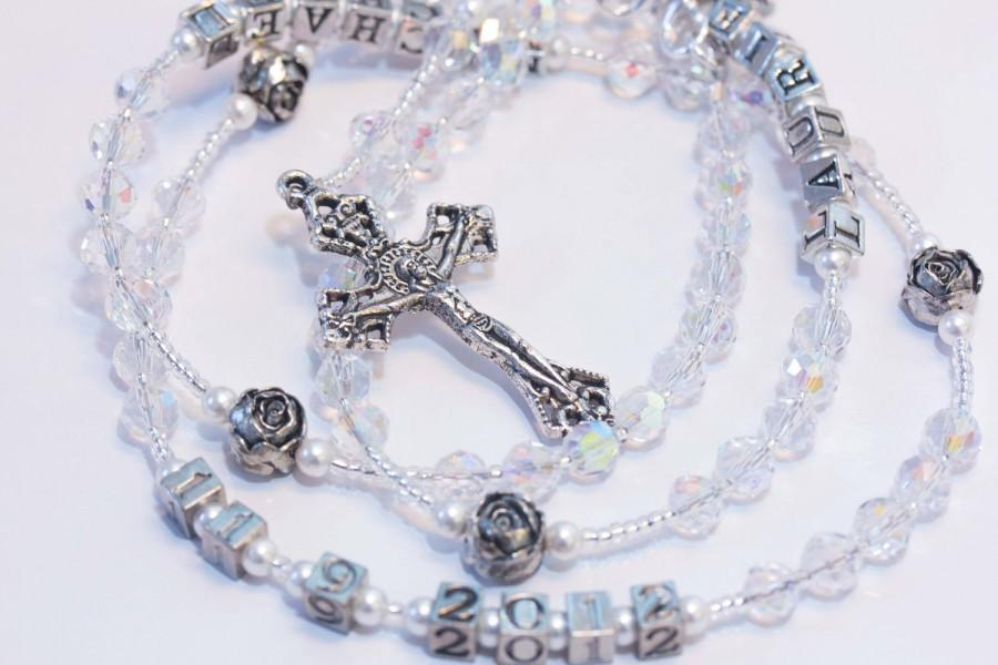 Mariage - Wedding Rosary with names and date