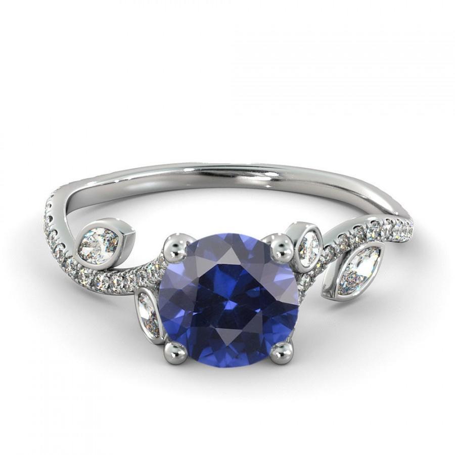 2 00 Ct Natural 7mm Leef Purple Sapphire Filigree Engagement Ring