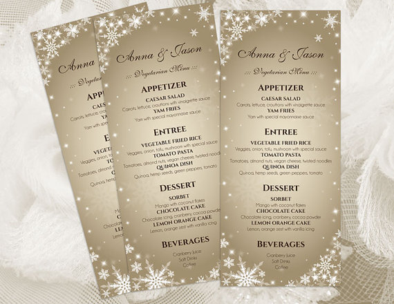 Wedding Menu Templates | Diy Printable Wedding Menu Template 2410843 Weddbook