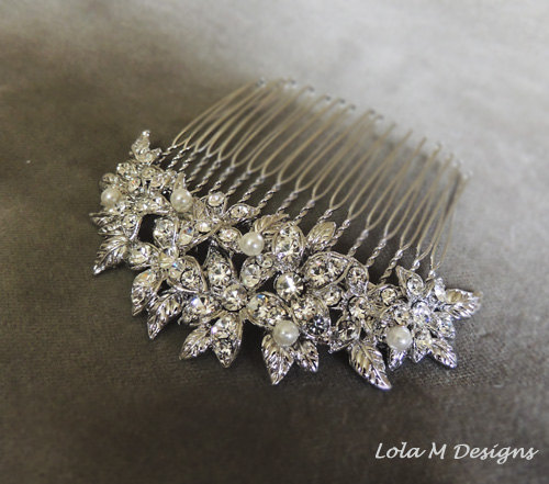 Wedding - bridal hair accessories, bridal hair comb, wedding hair accessories, wedding hair comb- Made to order
