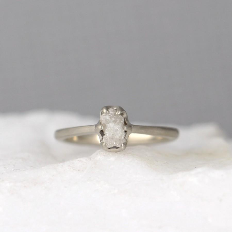 vintage fullxfull ring white diamond listing style il zoom rough raw setting rings gold
