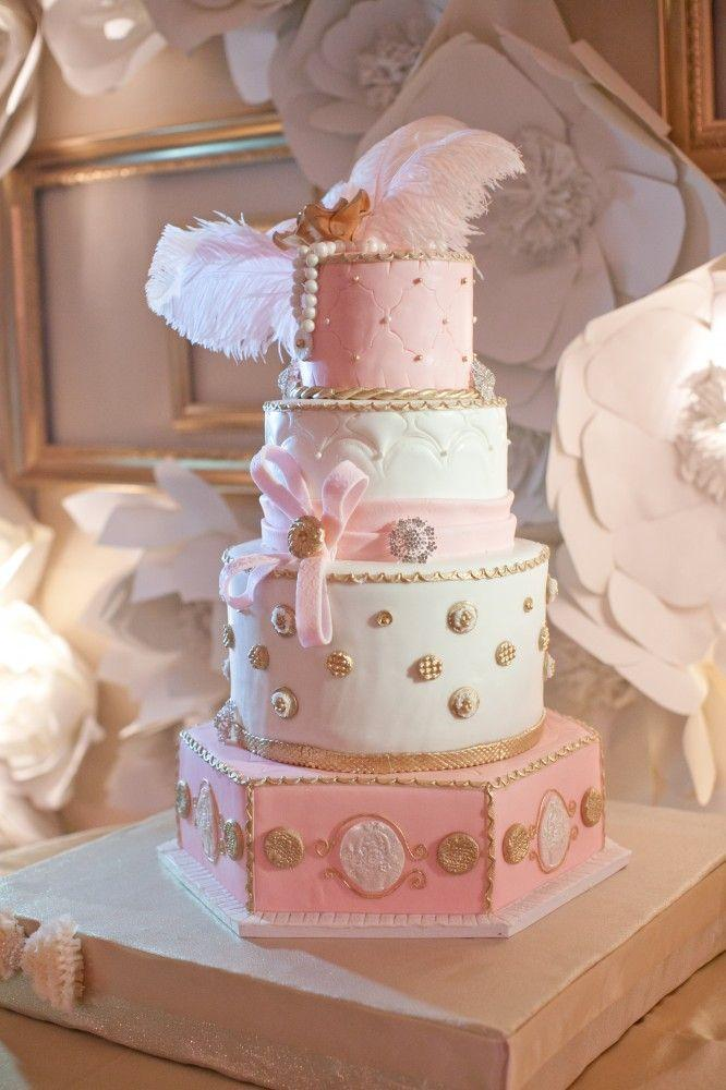 Свадьба - Pink And Gold Wedding Cakes