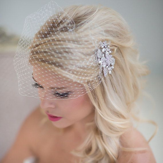 Wedding - Birdcage Veil, Wedding Veil, Bridal Veil
