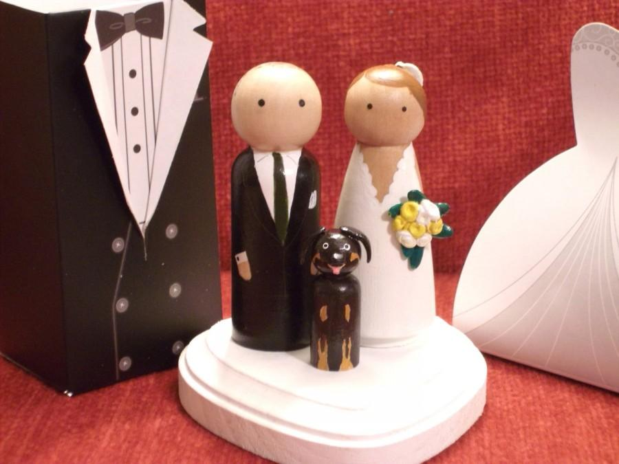 Свадьба - Custom Cake Toppers with One Pet -  Customizable---3-D Accents