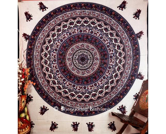 Свадьба - Blue and White Bohemian Tapestry Curtains