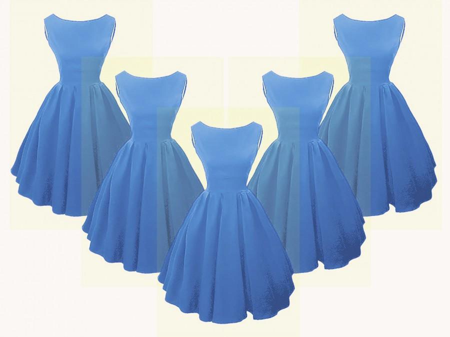 Mariage - Elizabeth Stone, Audrey Hepburn style 50s Rockabilly Bridesmaid Dress