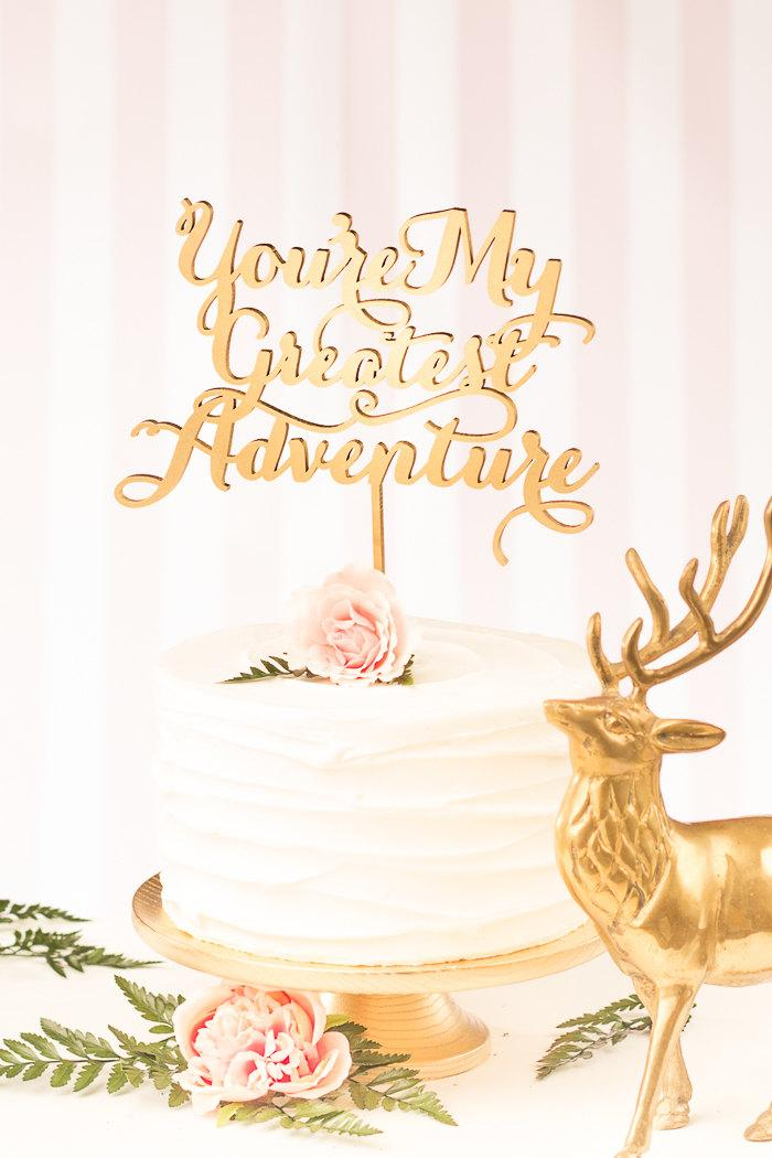 Mariage - You're My Greatest Adventure Cake Topper - Soirée Collection