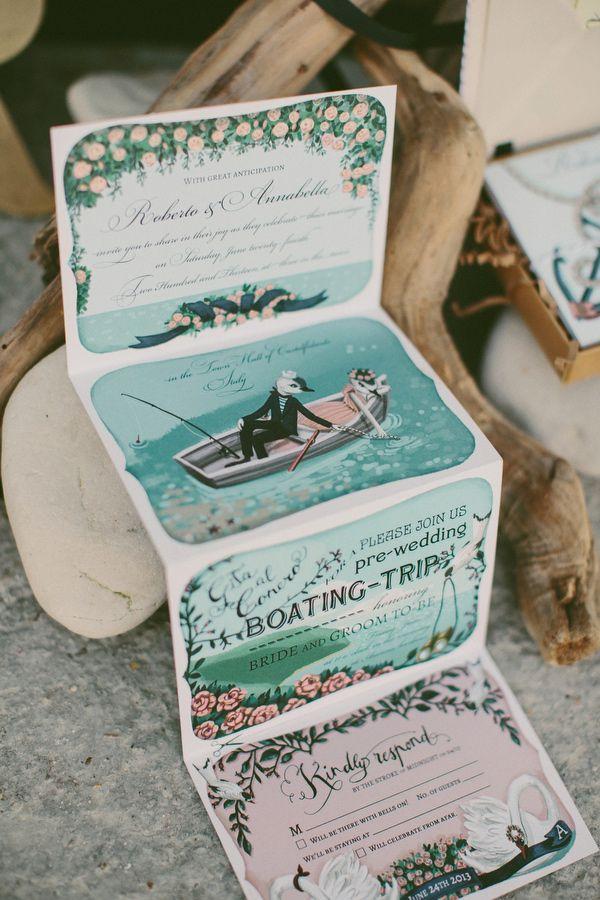 Mariage - 10 Beautiful Hand-Illustrated Wedding Invites