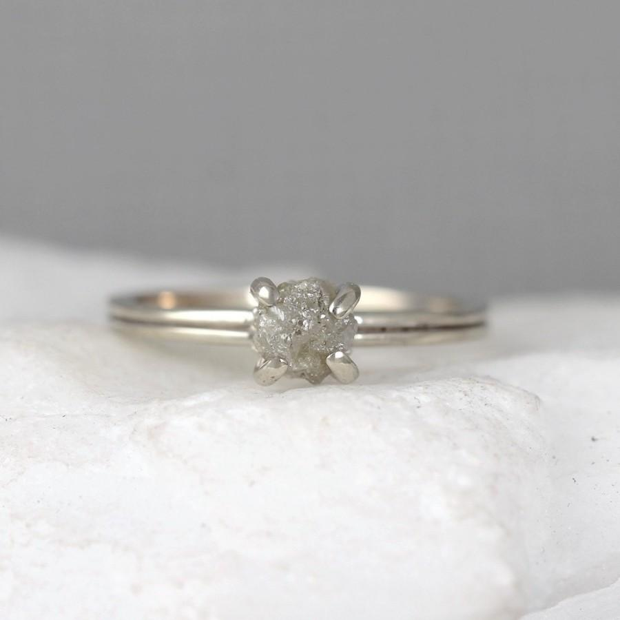 diamond of gold diamonds rings white uncut engagement products ring rough raw img trio