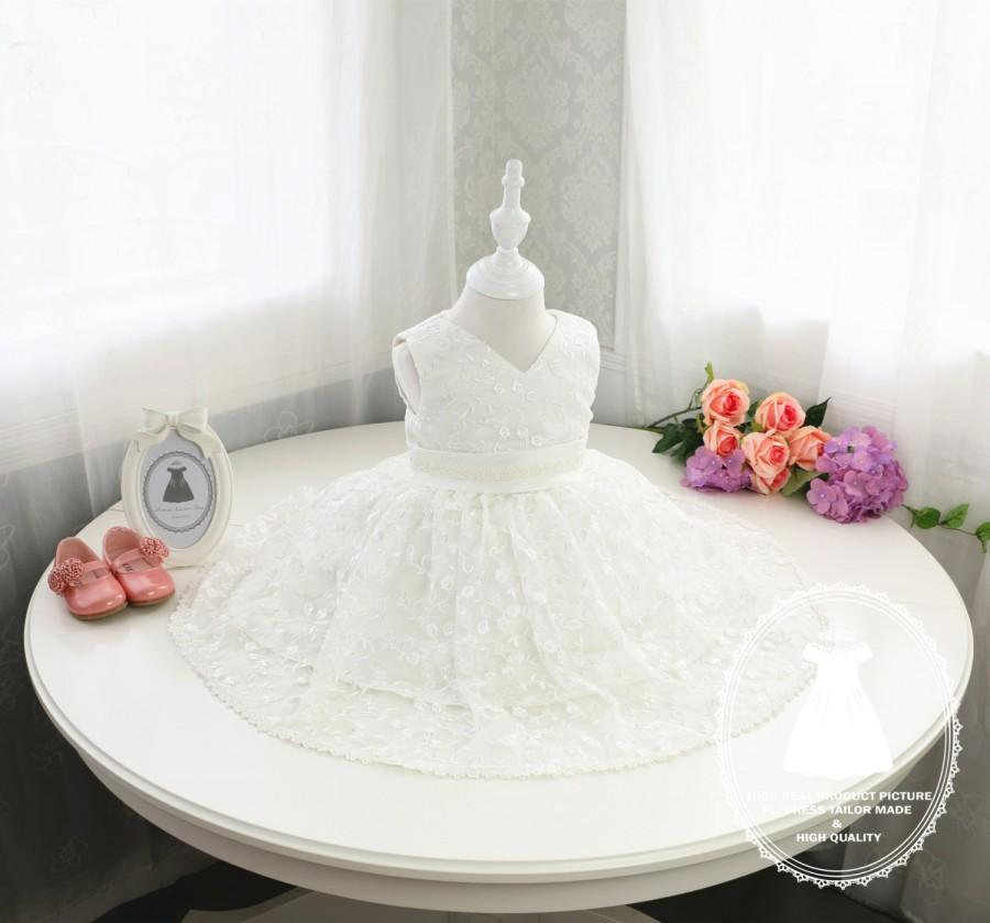 Baby First Communion Dress Baptism Christening Birthday 1 Year Old Infant Pageant PD047