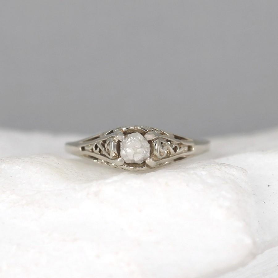dainty rings rough products il rose ring gold delicate stone wedding multi engagement diamond fullxfull raw custom