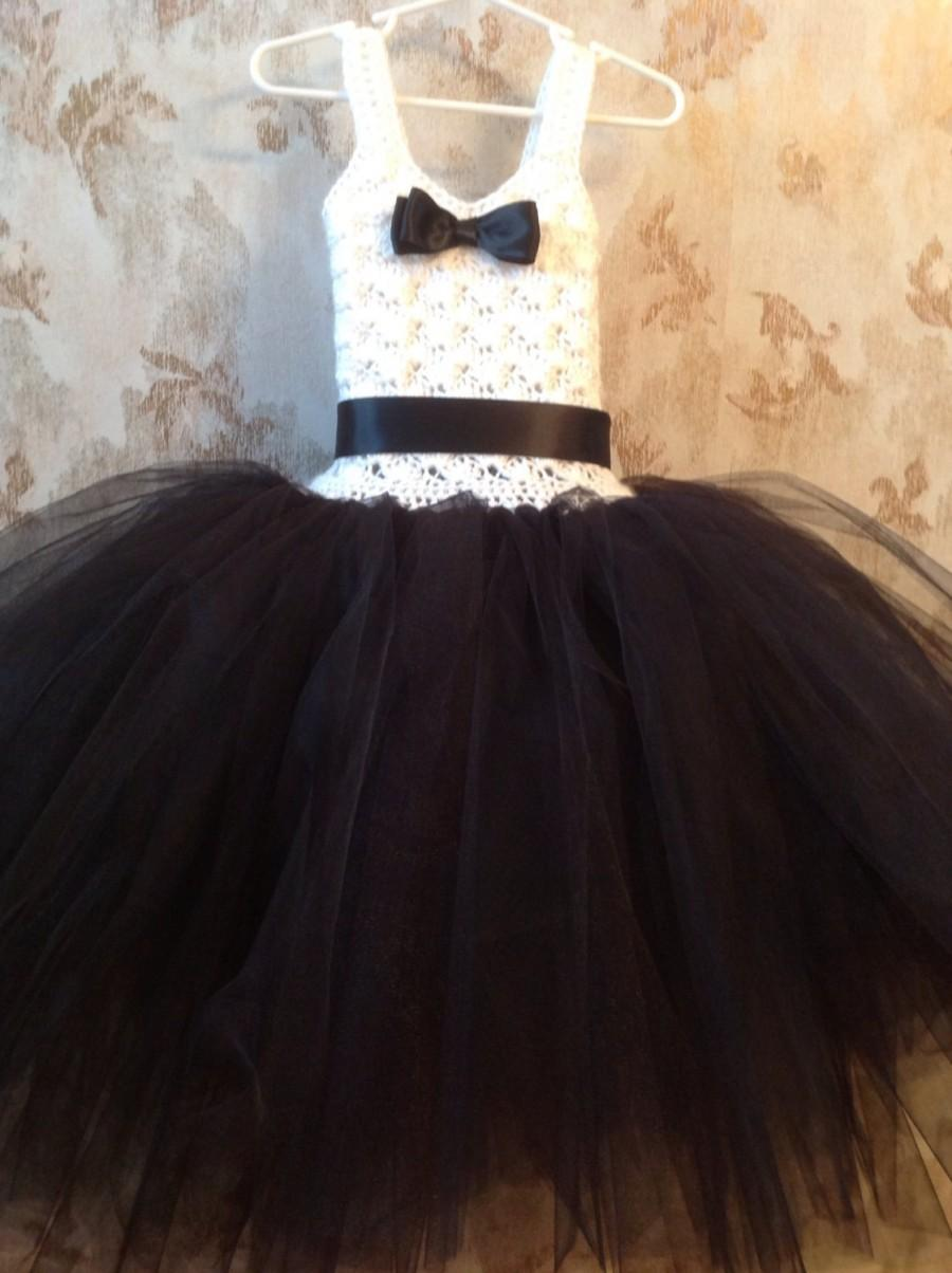Tuxedo Flower Girl Tutu Dress Black And White Tutu Dress Flower