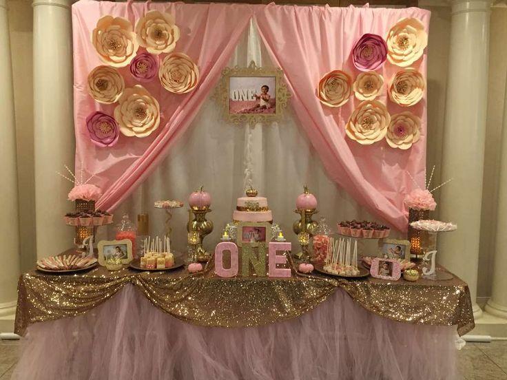 Wedding Theme - Pink & Gold Birthday Party Ideas #2411518 - Weddbook