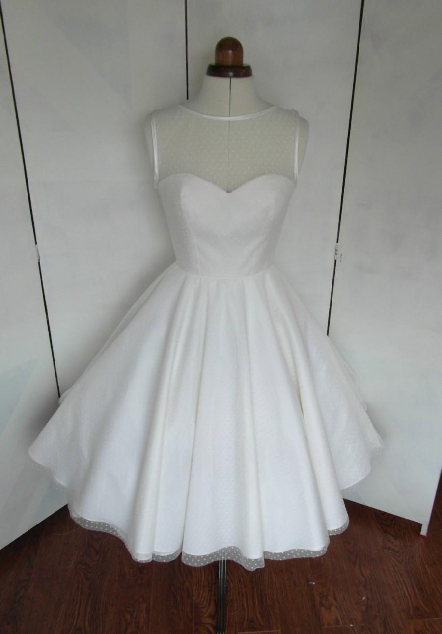 Wedding - The Dotty tea length wedding dress