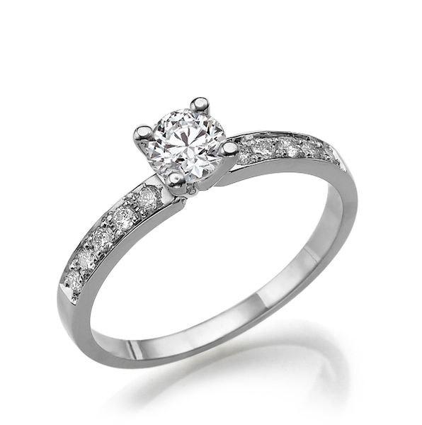 Свадьба - Classic Diamond Ring, 14K White Gold Ring, Diamond Engagement Ring, 0.5 TCW Diamond Ring Band, Unique Engagement Ring