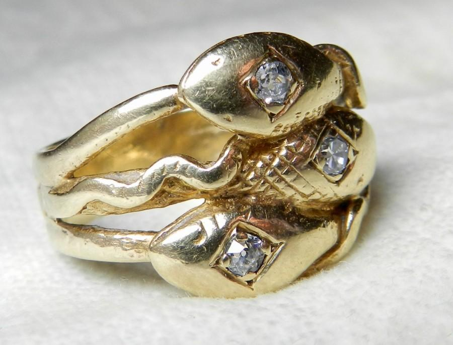 Two Headed Snake Ring