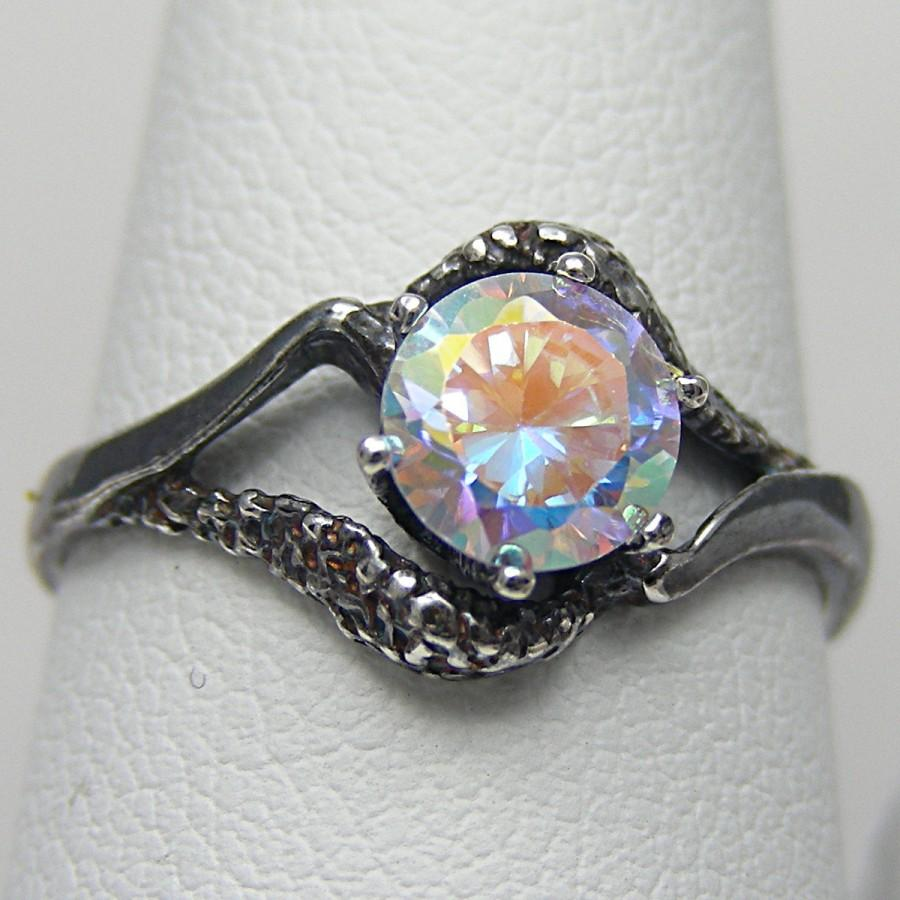gemstone gold rings mystic in oval ae p topaz v ring fire