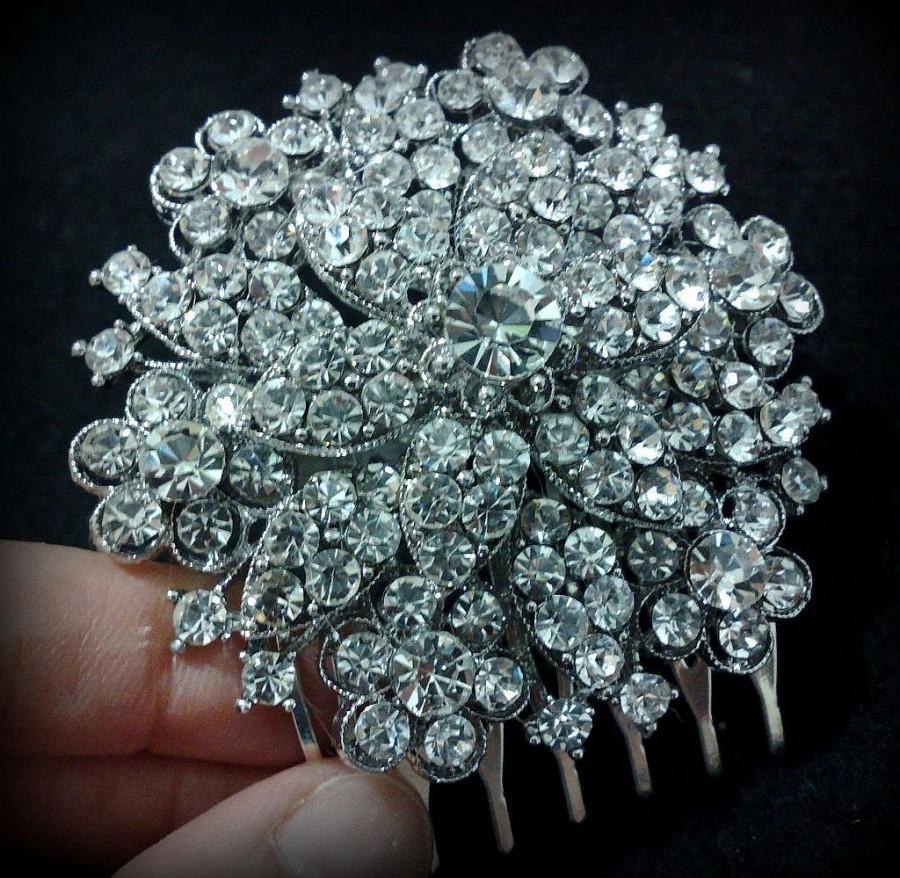 Wedding - Bridal Hair Comb, Woodland Wedding Flower Head Piece, Floral Hair Accessory, NICOLA