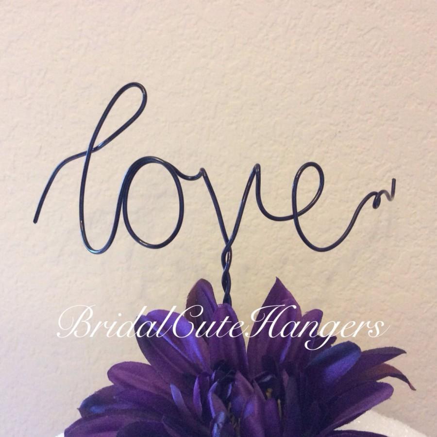 Свадьба - Custom Cake Topper - Love, Wedding Cake Topper, Mr & Mrs,Wire Cake Topper, Personalized Cake Topper, Love