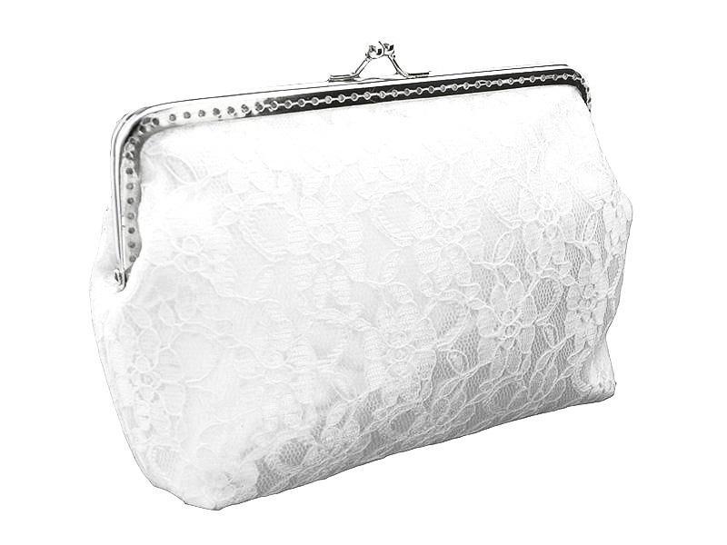 Bride White Lace Handbag, Bridal Lace Clutch Bag, Womens White ...