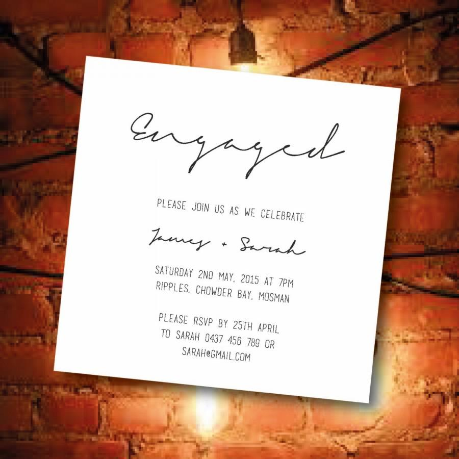Mariage - Printed Engagement Party Invitations