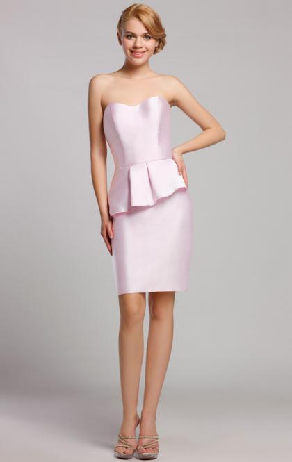Свадьба - LONG PINK SHORT BRIDESMAID DRESS