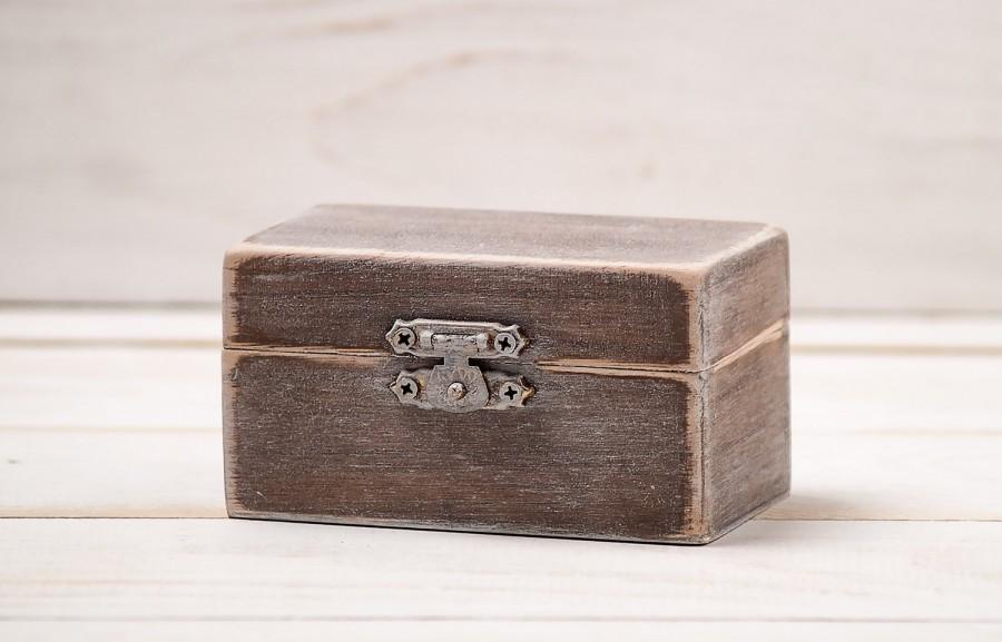 Personalized wedding wooden ring box rustic ring bearer for Wedding ring holder box