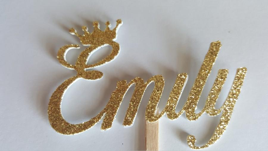 Gold Shoe Cake Topper