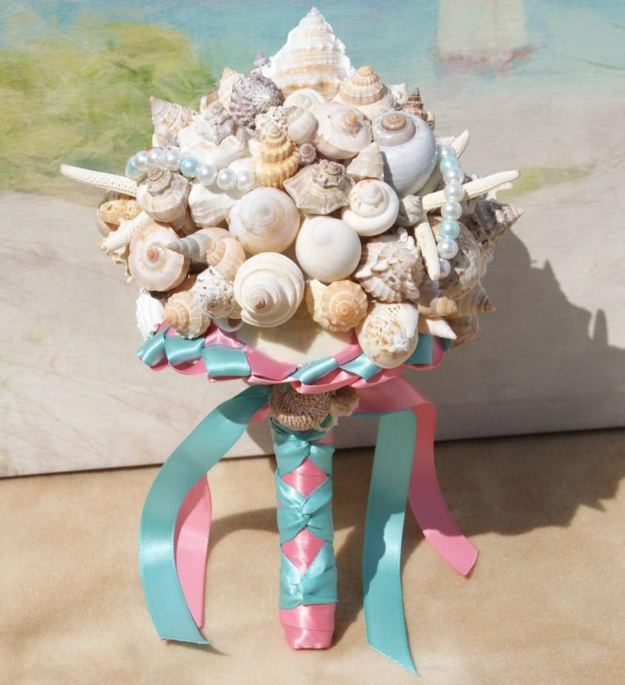seashell wedding bouquet heart of the seashell bouquet for