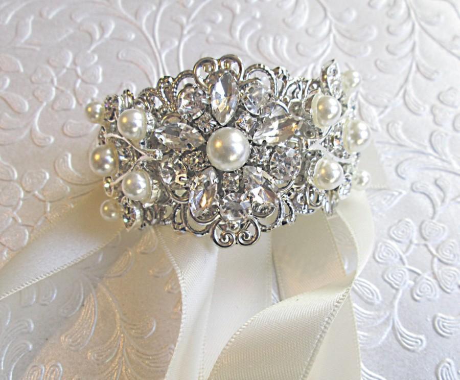 Pearl Bracelet Ivory Cuff Bridal